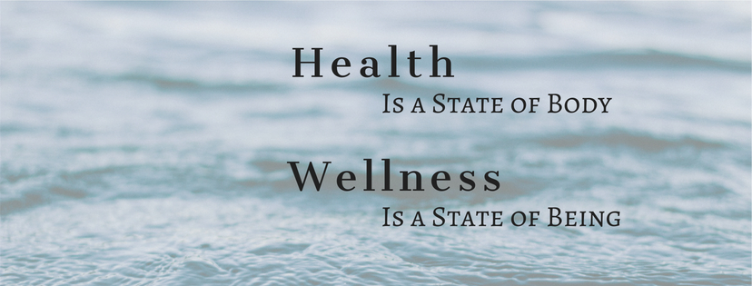 Health is a State of Body Wellness is a State of Being