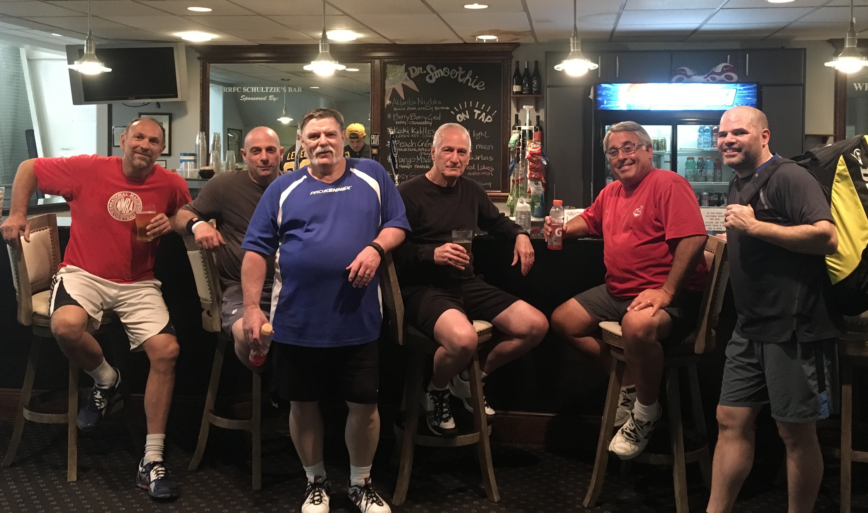 Racquetball Members Relaxing at Schultzie's Lounge
