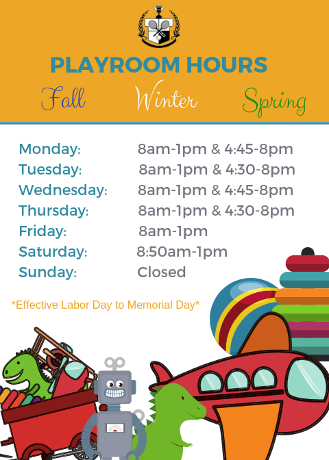 Playroom Fall Hours Western Reserve Racquet and Fitness Club