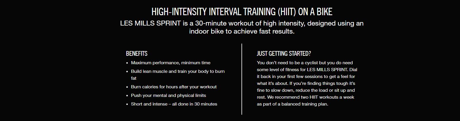 benefits of sprint